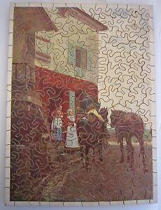 W091 American Puzzle Bois Auberge De Poissy 200 Pièce Début 1900 29x21cm Complet