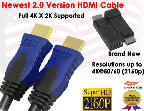 Newest 2.0v Super-Speed 4K X 2K HDMI 3FT+ DisplayPort (DP) to HDMI M/F Adapter
