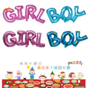 Image Is Loading Baby Boy Girl Shower Foil Ballons Helium Kids