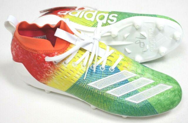 adidas Adizero 8.0 Mens 13 Lightweight Football Cleats Rainbow F35077