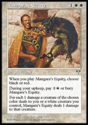 Mangara/'s Equity MTG MAGIC Mi Mirage Eng//Ita 4x Equità di Mangara