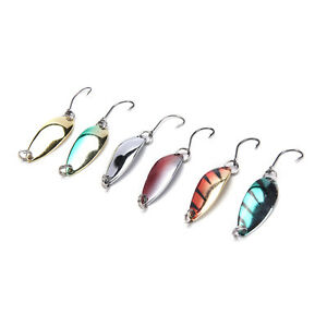 5pcs/lot 3g 30mm Spinner Spoon Fishing Lure Metal Lures Colorful Hard BaDC