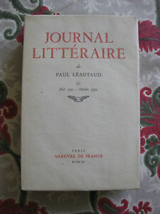 1960-Journal-Litteraire-Paul-Leautaud-Vol-9-Mai-1931-oct-1932-Bibliophilie-EO