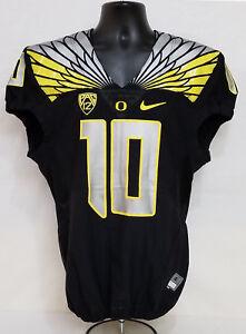 Oregon DUCKS Team Issued NIKE 2015 FOOTBALL JERSEY Game Worn  10 ... 5c3b536a0