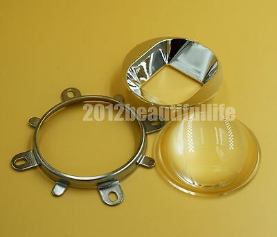 60degree 57mm Glass lens + reflector+fixed ring for 20W-120W high power led