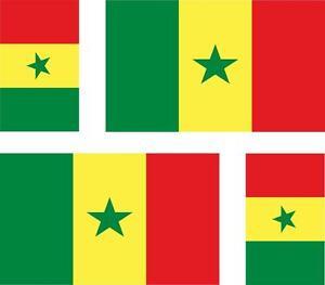 4 Aufkleber x Aufkleber Auto Motorrad Koffer PC Laptop Flagge Senegal senegala