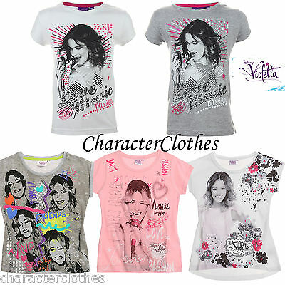 New Girls Character VIOLETTA T-shirt Kids Cartoon Short Sleeve Top Age 5-16 Yrs