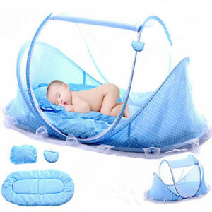 Newborn-Folding-Infant-Kids-Baby-Crib-Canopy-Mosquito-Net-Bed-Cot-Tent-Netting