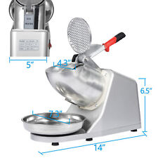 Electric Ice Crusher Shaver Machine Snow Cone Maker Shaved 143 Lbs Diy Ice Cream