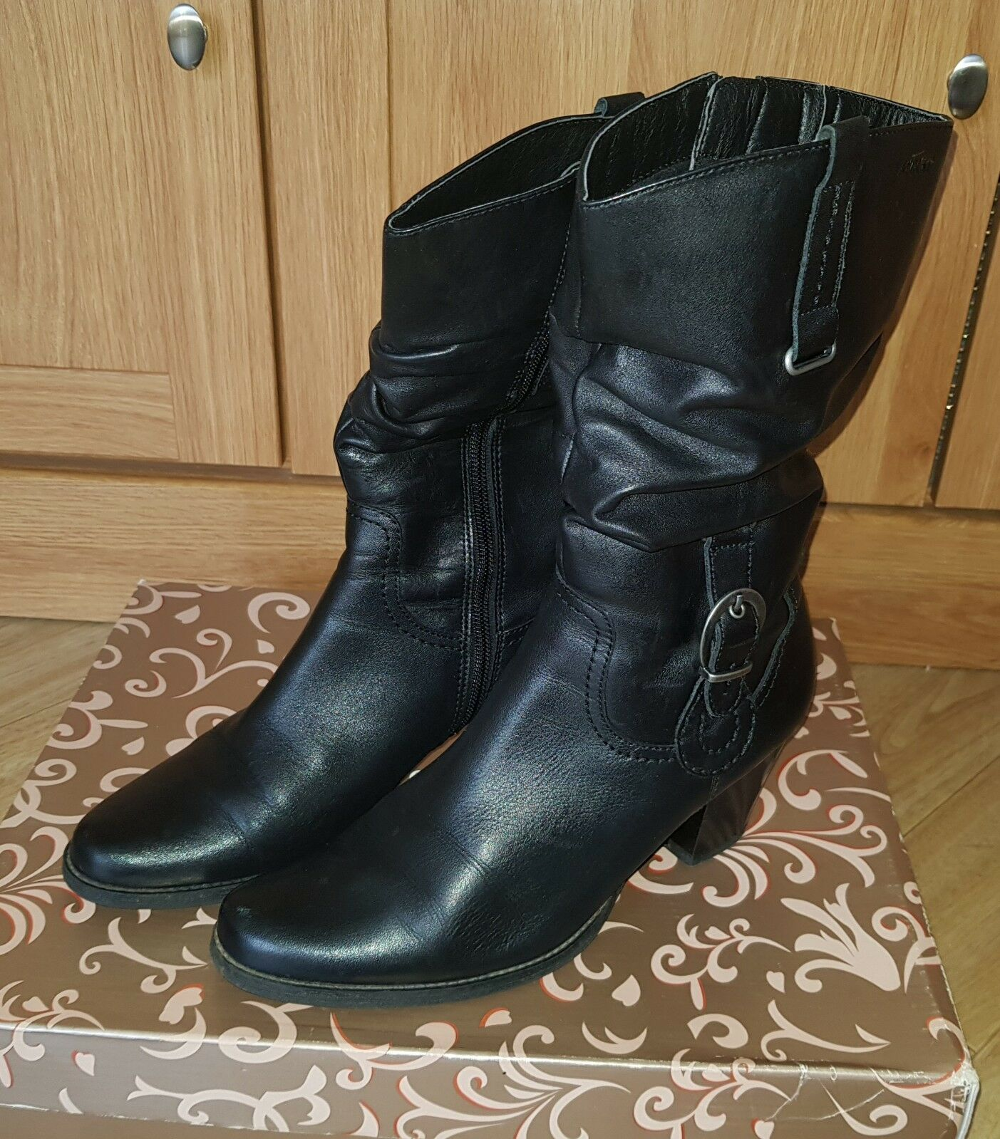 Womens Black Leather Lasocki Boots   shoes, Size 5UK   38EU