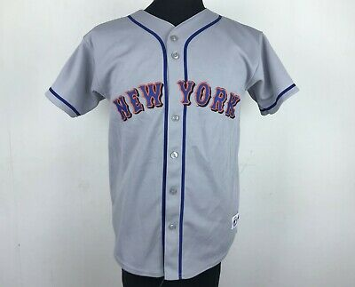 100% authentic 17b46 5b8e5 Vintage New York Mets AWAY Majestic MLB Baseball Jersey Youth Size L Made  in USA | eBay