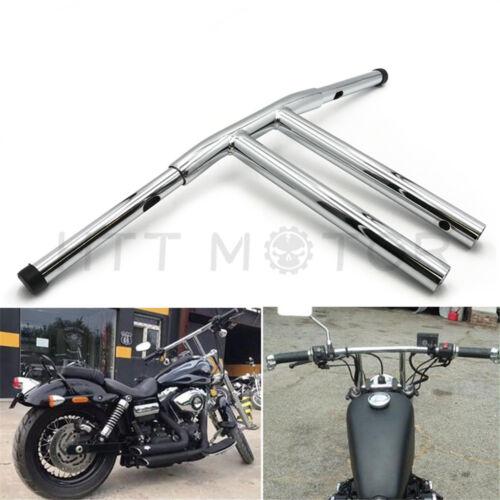 "16/"" Rise T-Bars Handlebar Drag Bar For Harley Sportster XL DYNA LOWRIDER Chrome"
