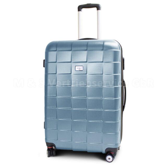 """Trolley Reisekoffer Reisetasche Hartschale Größe XL - Modell """"SQUARES"""" - TÜRKIS"""
