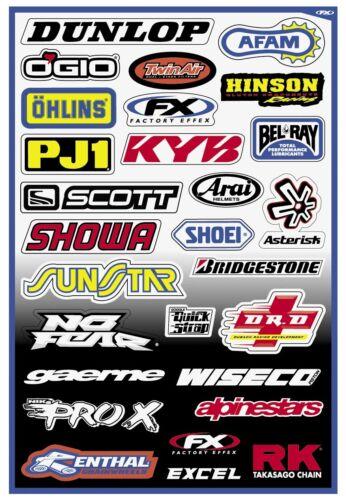Sponsor Stickers Kit 10-68000 Factory Effex