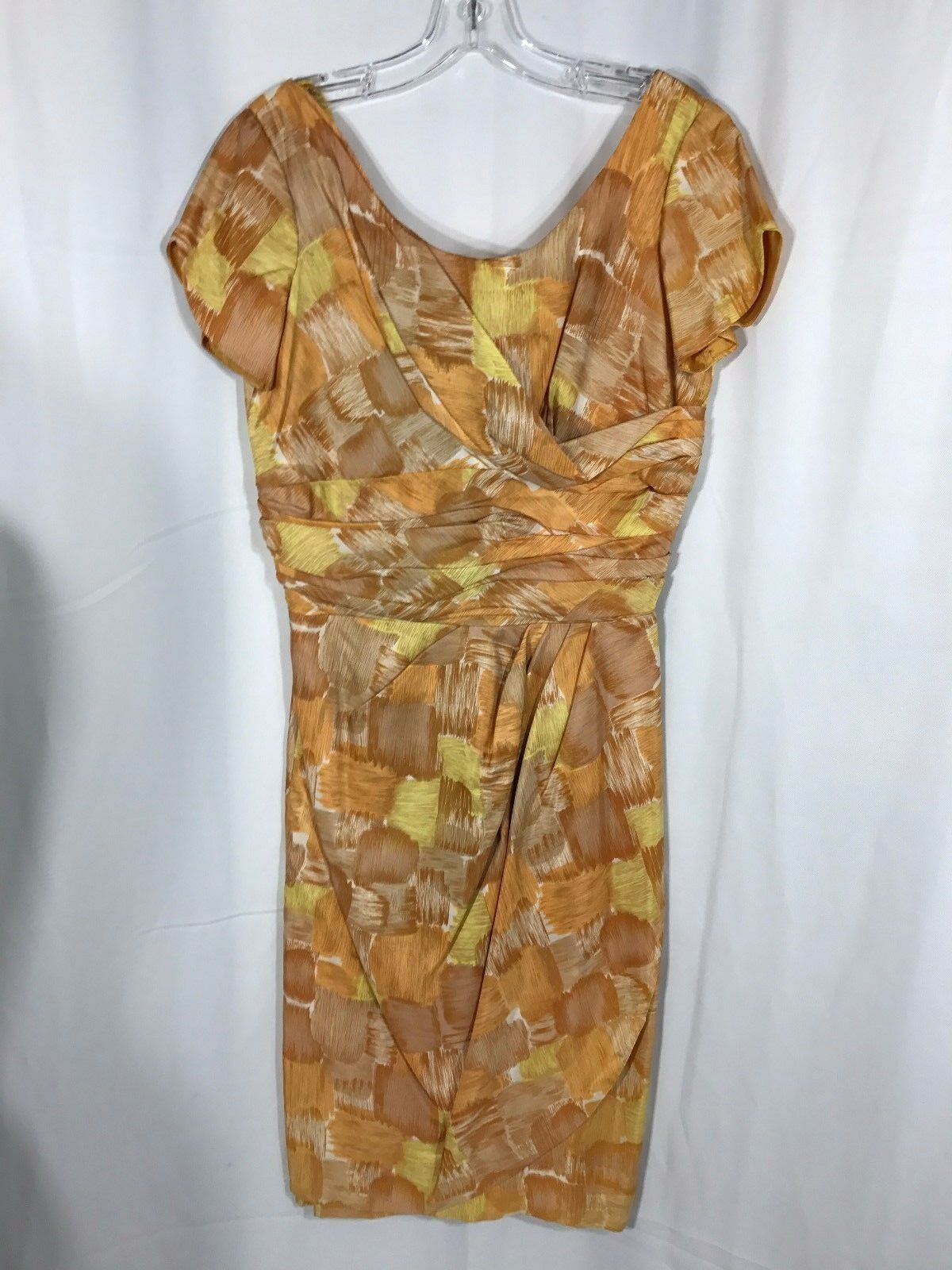 Années 50 années 60 Jay Herbert Vintage Orange eau couleur hommeches courtes robe de petite Med