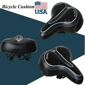 Most Comfort Wide Big Bum Bike Bicycle Gel Extra Sporty Soft Pad Saddle Seat USA