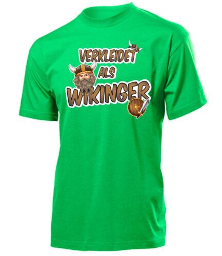 CARNEVALE-CARNEVALE-travestito come Vichinghi T-Shirt Uomo S-XXL