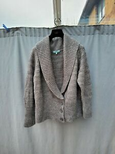 Dickins-and-jones-Grey-Wool-Alpaca-Blend-Collar-Textured-Chunky-Cardigan-UK-XL