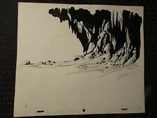 1960's SUB-MARINER TV Animation Cartoon Production Art BACKGROUND Sc88 BG88