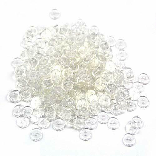 About 400 Pcs Clear Resin Round Buttons Basic Buttons 2 Holes for Blazer Spor#15