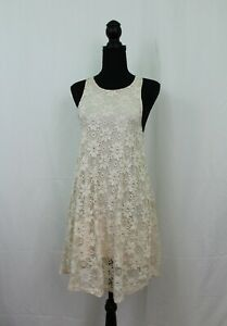 Details About Perfect For Summer Ginger G Lace Tank Dress Cream Color Size Small