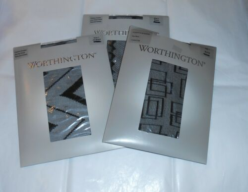 Geo Zag Stripe Worthington Fashion 1 Zig 3 X Lace Nwt Hosiery Taglia Sheer wYHU0S