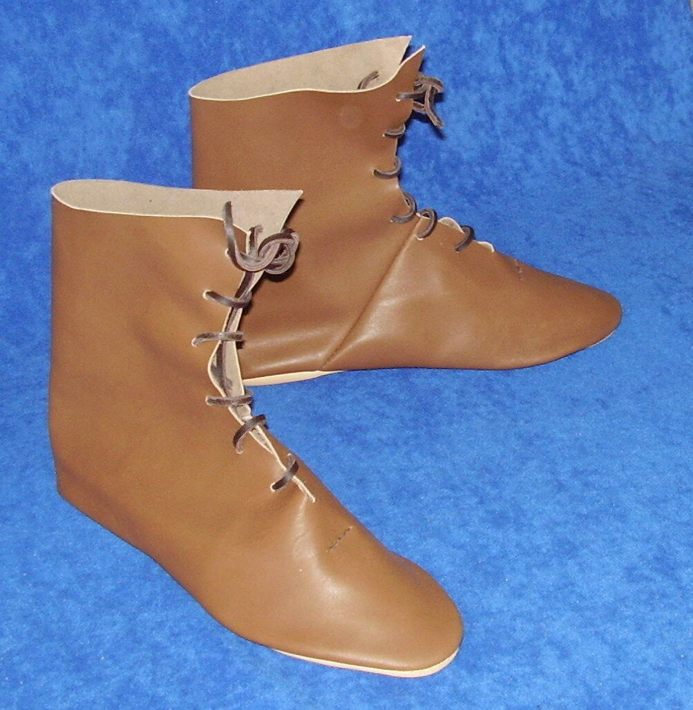 HANDMADE IN THE UK - MEDIEVAL BOOTS RENAISSANCE LARP HISTORIC REPRODUCTION SHOES