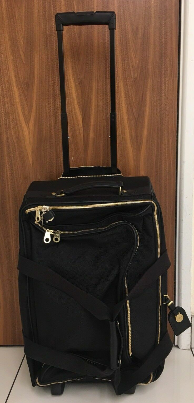 e1f7996439e Mulberry Henry Leather-trimmed Nylon Wheeled Suitcase for sale ...