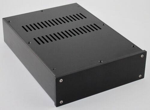 Full Aluminum black amplifier chassis amp Enclosure DAC Box 215*70*308mm
