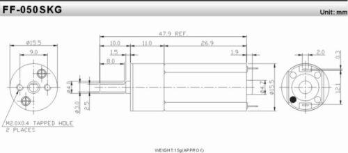 GA16-050 DC 6V 600RPM Gear Box Dia Robot Micro DC Geared Motor DIY car//robot