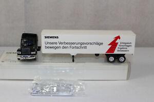 hg2006, Alter Herpa LKW Sattelzug US-Truck MACK Siemens Werbemodell mint BOX H0