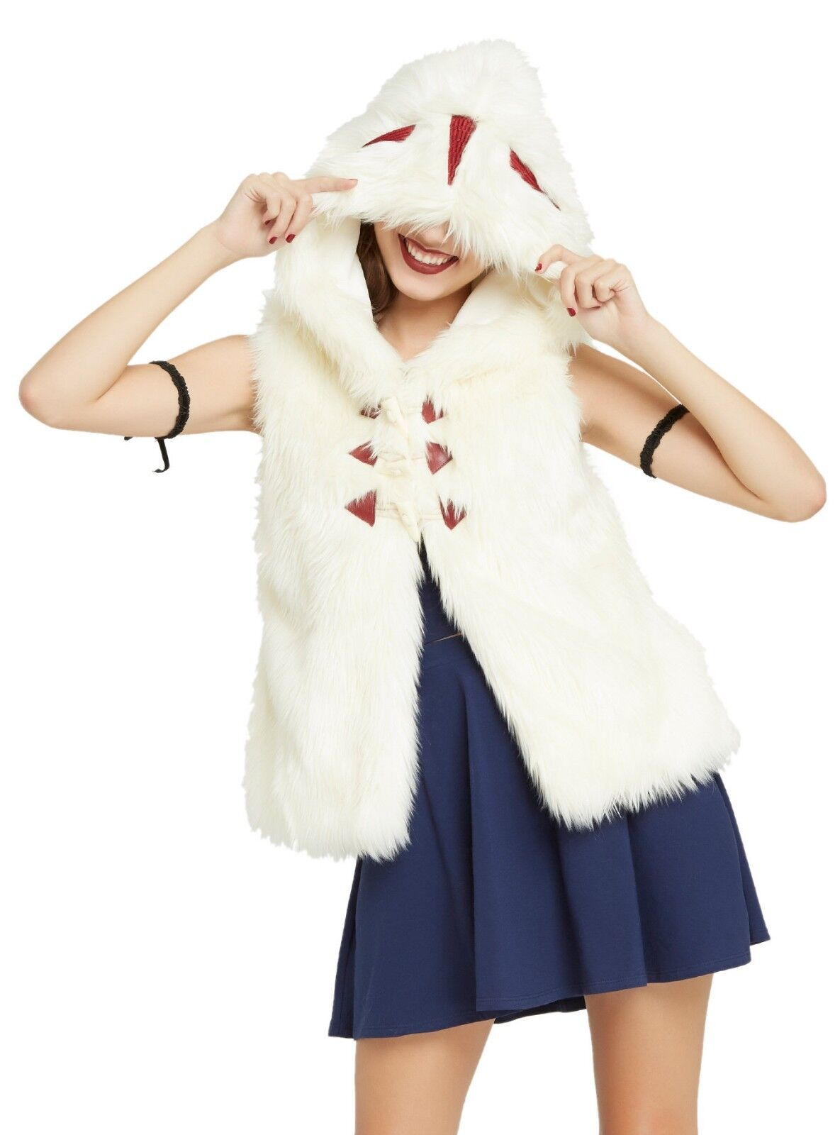 Studio Ghibli Princess Mononoke Fur Vest Cosplay Anime M L XL New Her Universe