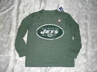 Boys Old Navy Nfl Team Apparel Ny York Jets Long Sleeve Shirt Top Sz 6/7