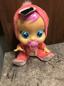 Cry-Babies-Fancy-The-Flamingo-Crying-Doll-Pink-Outfit-Toy-Gift-For-Young-Girl