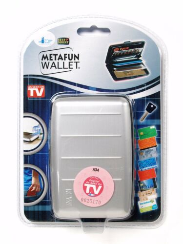 AS SEEN ON TV 5 emplacements MetaFun RFID Aluminium Portefeuille//carte de crédit titulaire