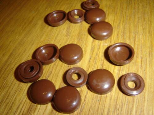 2 Pièce plastome Caps marron plastique dôme vis capot