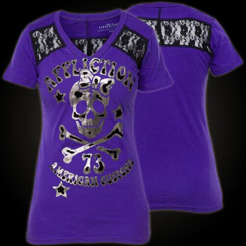 73 Lila Afflizione Damen Heartbreakers shirt T shirt T nxB0HIawq