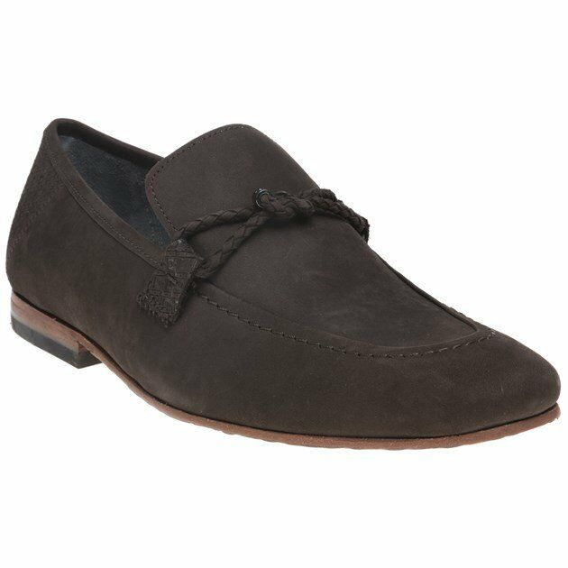 New Mens Ted Ted Ted Baker Brown Daveon Nubuck shoes Loafers And Slip Ons On a4202b