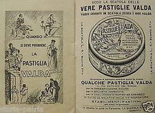 MEDICINA_FARMACIA_PASTIVAL_PASTIGLIE VALDA_MAL DI GOLA_PUBBLICITARIA D'EPOCA