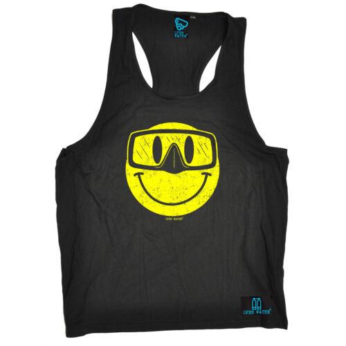 Smile Scuba Diving Face MENS SINGLET funny birthday gift 123t for him Vest