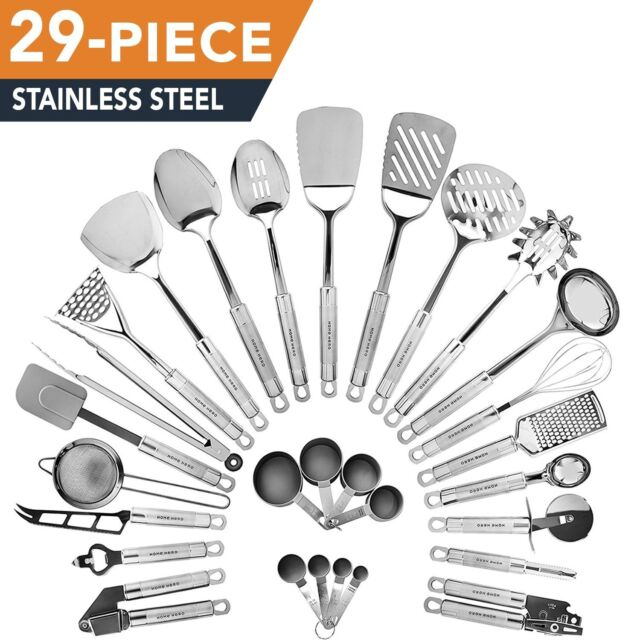 HomeHero Kitchen Utensil Set | 29-Piece stainless-steel Premium Cooking Utensils