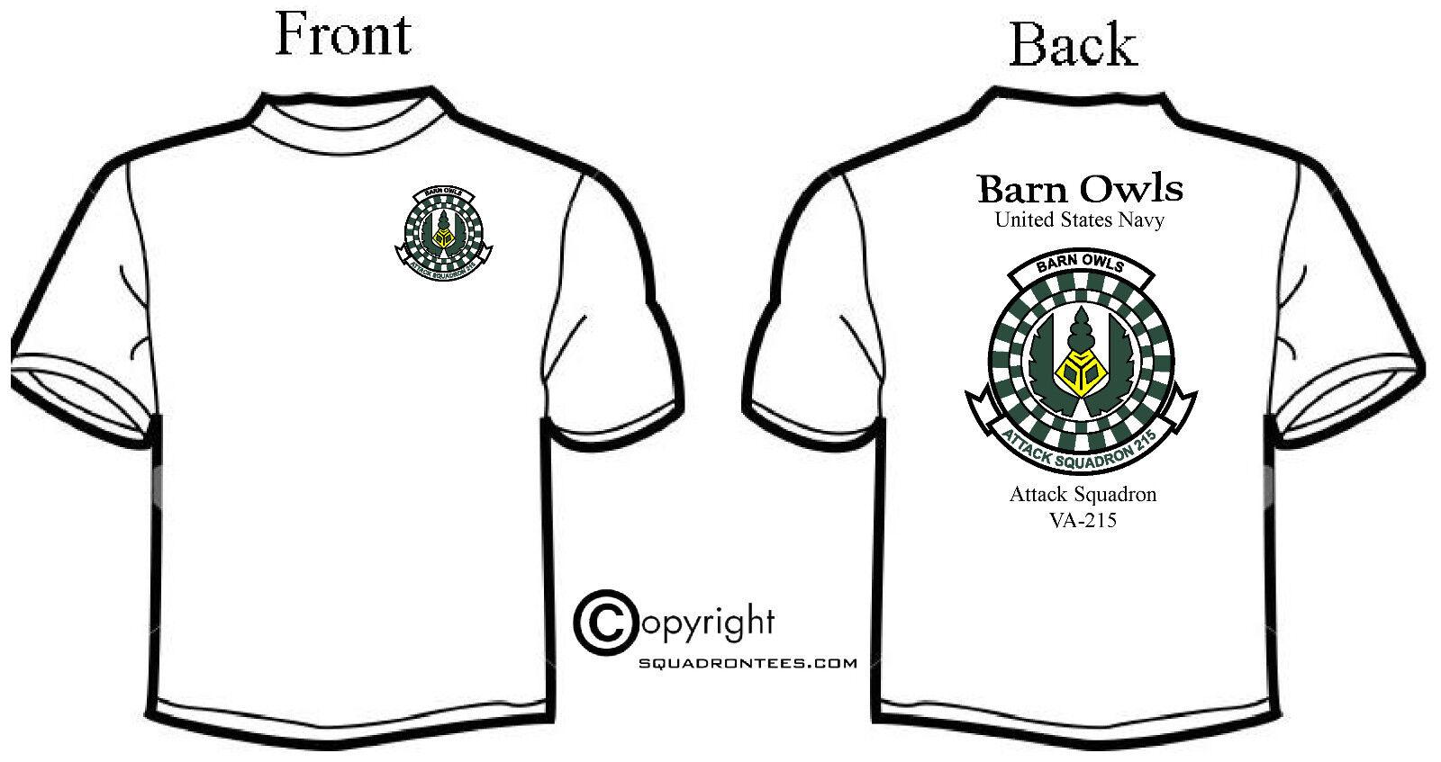 USN VA-215 Barn Owls Squadron Logo T-Shirt, Hoodie, Hat, and Polo