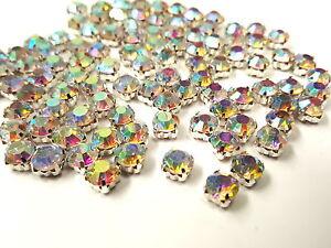 Grade-A-Sew-on-Cut-Glass-Crystals-Rhinestones-Diamantes-Dress-Making-Craft