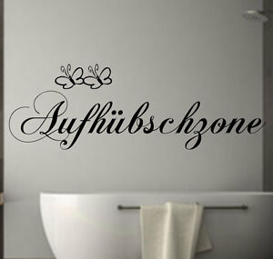 wandtattoo badezimmer aufh bschzone fliesen schlafzimmer spruch wanddekoration ebay. Black Bedroom Furniture Sets. Home Design Ideas