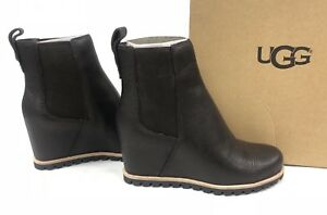 2cc9ba55f901 UGG Australia Pax Chelsea Wedge Boots Stout BROWN Leather Waterproof ...