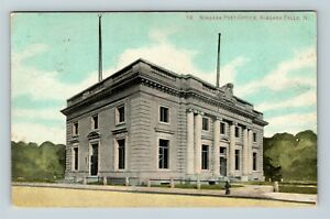 Vintage-View-of-Niagara-Post-Office-Niagara-Falls-NY-Postcard-X31