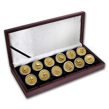 1996-2007 Australia 12-Coin 1 oz Gold Lunar Set BU (Series I ) - SKU #33436