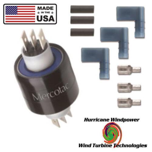MERCOTAC 330 SLIP RING 3 CONDUCTORS 30 AMPS PER CONDUCTOR