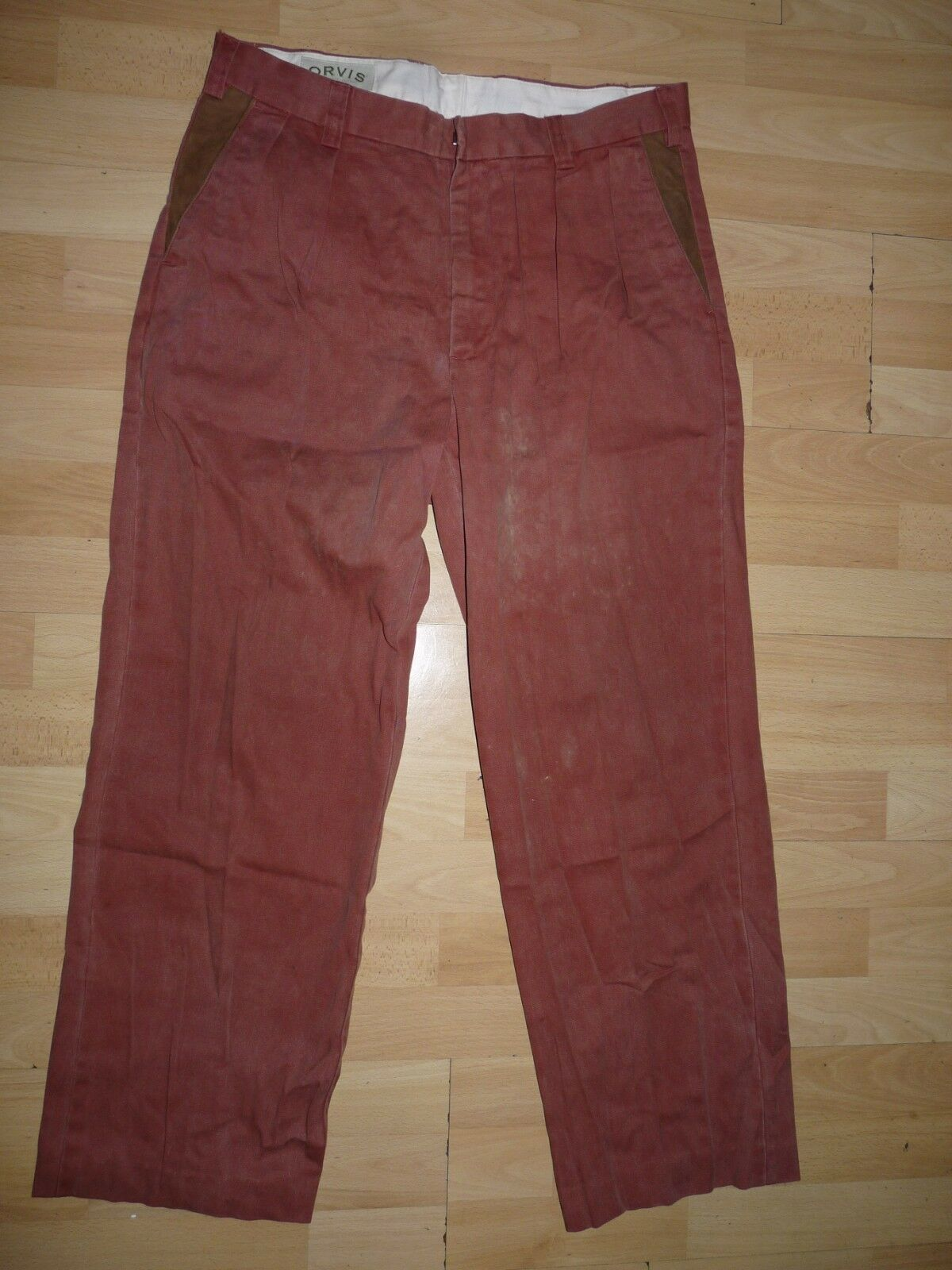 ORVIS soft men's trousers outdoor field casual fishing pants W34 100% cotton (24