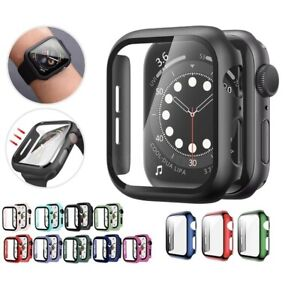 For Apple Watch Case Series 3/4/5/6/SE Protective Full Cover Screen Protector